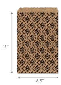 100 Flat Kraft Paper Bags Jewelry Gift Bag Cheap Bag Damask Kraft Bag More Sizes