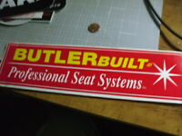 BUTLER RED Sticker Decal Automotive OLD STOCK PERFORMANCE ORIGINAL