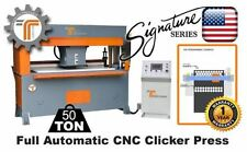 NEW!! CJRTec 50 Ton Traveling Head CNC Clicker Press - Full Automatic Die Cutter