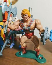 masters of the universe vintage motu 1982 stands display set he-man skeletor toy