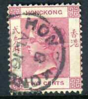 China 1882 Hong Kong 2¢ Rose Pink QV Wmk CCA SG #32a W150 ⭐⭐⭐⭐⭐⭐