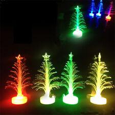 10 PCS Colored Fiber Optic LED Light-up Christmas Tree Top Battery Powered New