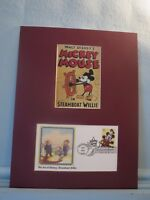 Walt Disney - Mickey Mouse in Steamboat Willie & First Day Cover of his Stamp