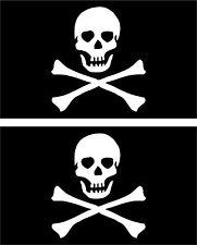 Set 2x aufkleber sticker auto motorrad scooter pirat flagge korsar