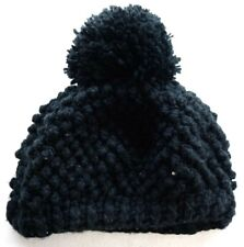 New San Diego Hat Co. Womens Black Winter Beanie Ski Pom Pom Hat Cap
