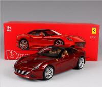 Bburago 1:18 Ferrari California T Closed Top Signature Diecast Model Car Red