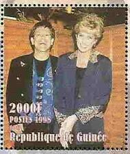 PRINCESS DI - Memorial  Sheet  -  Guinea  -  Elton John