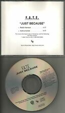 For all that endured F.A.T.E. Just because  RADIO & INSTRUMENTAL PROMO CD Single