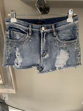 Forever 21 Denim Shorts Size 27 Studded