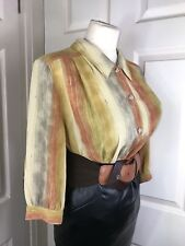 "Vintage Blouse Size 18 46"" Chest DSecretary Mistress CD TV D433"