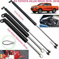 Front Hood+Tailgate Assist Slowdown Gas Struts For Toyota Hilux Revo 2015-2016x4