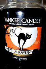 Yankee Candle HAPPY HALLOWEEN  Licorice 22 oz Lg JAR 2012 Retired Black Cat HTF
