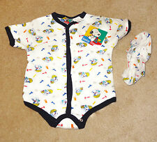 NWT Children's Apparel PEANUTS Baby Snoopy Construction Outfit Booties 6/9 Month