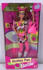 SIXTIES FUN Barbie Doll Blonde Hair Pop Culture 60's Mini Dress Mattel 1997