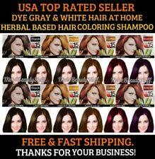PERMANENT HAIR DYE SHAMPOO COLOR GRAY&WHITE HAIR 10 COLORS LAST UP TO 30 DAYS