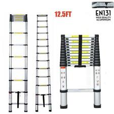 12.5FT Aluminium Multi-Purpose Telescopic Ladder Extension Steps Tall EN131