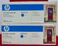 (Lot 2) Q3961A 122A Genuine HP Cyan Toner Color LaserJet 2500L 2550LN 2550 $