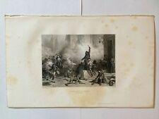 GRAVURE THIERS INSURRECTION DE MADRID 1865 NAPOLEON TRES BON ETAT