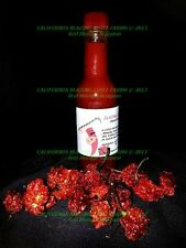 Organic Trinidad Scorpion Hot Sauce SALSA PICANTE~5 oz.! NUCLEAR HOT Flaming hot