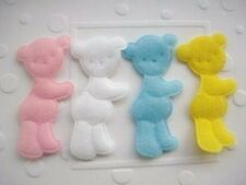 "40 Padded Felt Baby Bear 2"" Applique/Pink/Blue/White/Yellow/Sewing/Trim/Cute L13"