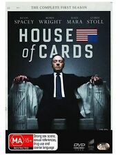 House Of Cards : Season 1 (DVD, 2013, 4-Disc Set) NEW AND SEALED R4 DVD
