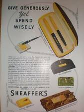 Sheaffer's lifetime pen 1940 spend wisely advert