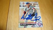 Wil Crowe Washington Nationals autograph Auto Signed 2017 Bowman 1st card