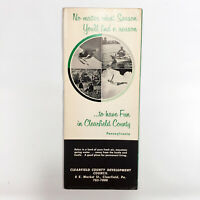 1960s Clearfield County PA Vintage Travel Brochure Tourism Industry Pennsylvania