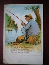 POSTCARD SOCIAL HISTORY IT'S NICE TO SIT & THINK & FISH POEM