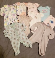 Carter's Preemie Baby Girl Clothes LOT of 9 Pieces Gently Used