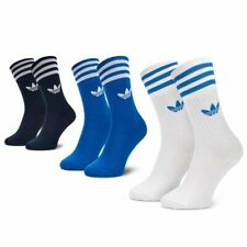 NEW WITH TAGS ADIDAS ORIGINALS SOLID CREW SOCKS TRAINER SHOE SNEAKER MEN 3 PACK