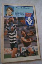 AFL - VFL - Footy Record - 1981 - Richmond v Collingwood