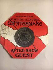 Whitesnake Snake Rattle and Roll World Tour 87-88 Backstage Pass Vintage Rare