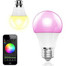 HOT BLUETOOTH E27 LED RGB COLOR BULB LAMP SPEAKER SMART APP MUSIC PLAYER L4E1