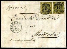 BADEN 1858 7 per 2 BRIEF 134 BRENNET schöner 12 KREUZER BRIEF(S7402