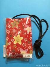 F/S Chirimen Kimono Crepe Fabric Cell Phone Pouch Strap Cute Kawaii Kyoto Japan