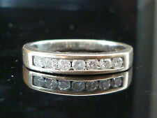 Stunning 18ct White gold half eternity diamond ring HIGH QUALITY DIAMONDS