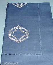 Sferra COSSA Boudoir Sham Cornflower Blue w/ White Embroidery cotton Percale New