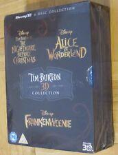 New/Sealed Tim Burton / Disney 3D MOVIE Collection Blu-ray 6 Discs Region Free