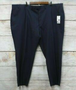 Collection Michael Strahan Pants Men's 46X34 Wool Blend Stripe Suit Pants New