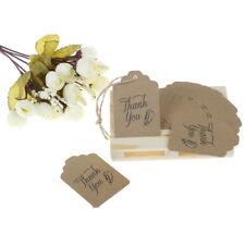 50X DIY Kraft Paper Tags Brown Packing Label Luggage Wedding Note price tag UK