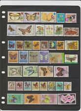 100+ Thematic Postage Stamps on Butterflies Worldwide all Different Nice Used.