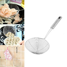 Stainless Steel Silver Mesh Oil Sifter Colander With Handle Cookware Strainer