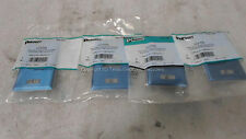LOT OF 4 - Panduit UICFP2S Mini-Com ID 2 Position Stainless Steel Faceplate