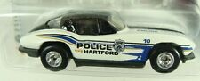 Hot Wheels '63 Corvette Cop Rods Hartford, CT Police Dept w/ Real Riders