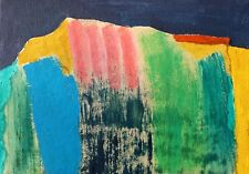 ST IVES SEASCAPE ABSTRACT COLOUR NIGEL WATERS ORIGINAL PAINTING 50% OFF *