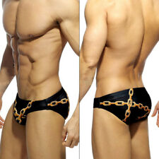 4d0d65480d Men Camo Briefs Shorts Knickers G-string Thongs Swimsuit Drawstring Swimwear  1PC