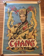 Vintage Magic Poster - Chang W/ Dragons On Canvas 49�X35� Over 4ft Wow