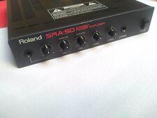 ROLAND SRA-50 STEREO POWER AMPLIFIER  SRA50 50W PER CHANNEL AMP