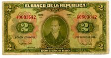 Colombia ... P-390d ... 2 Pesos ... 1955 ... *F+*.